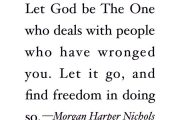 Forgive, find Freedom and Move on