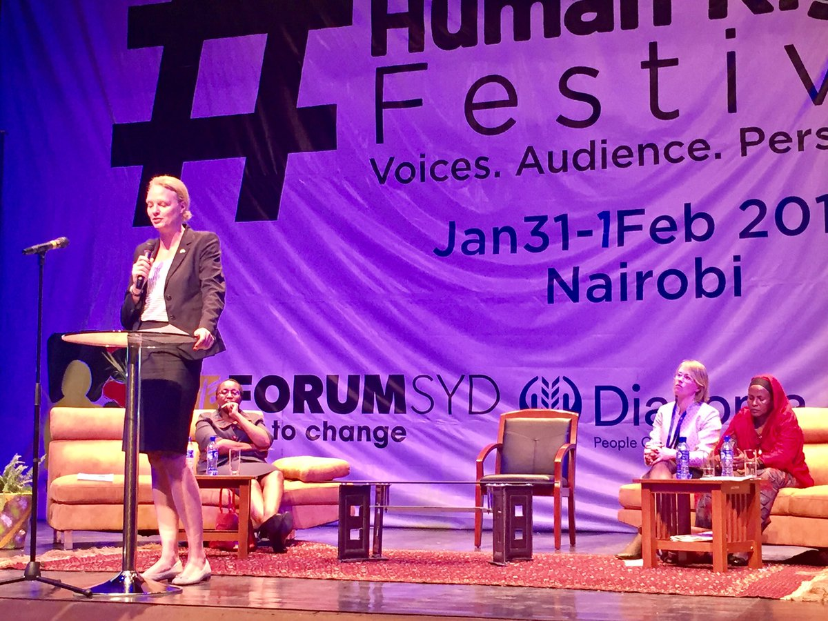 Democracy And Human Rights Festival: Sweden's Ambassador to Kenya Anna Jardfelt