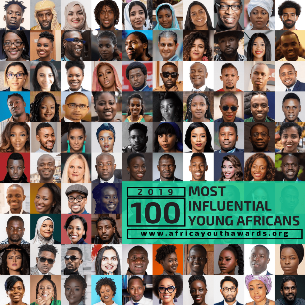 In recognition of their works which has impacted lives across the continent, Africa Youth Awards has announced 100 young Africans from 32 African countries in its 2019 ranking of 100 Most Influential Young Africans.