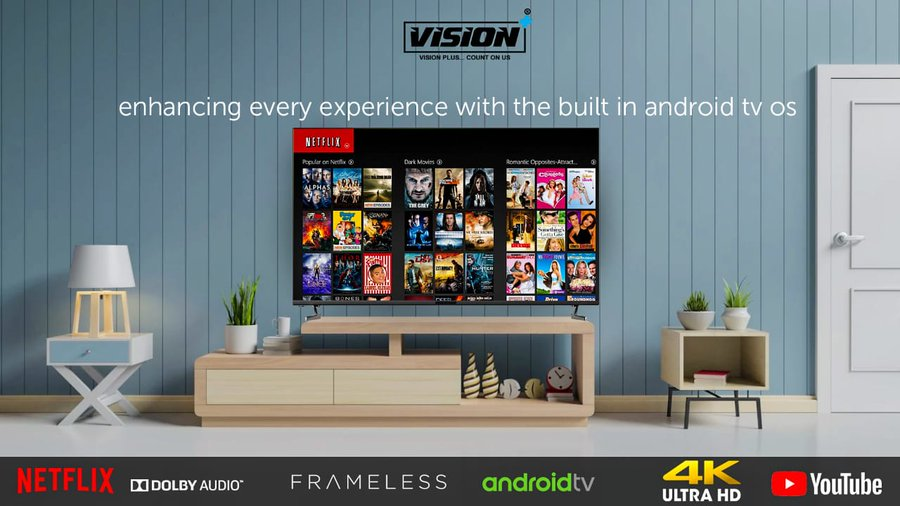 Electronics brand Vision Plus on Wednesday launched its new range of high-quality frameless E-LED TVs in the Kenyan capital Nairobi with the aim of creating a name for Kenya in the global consumer electronic market.