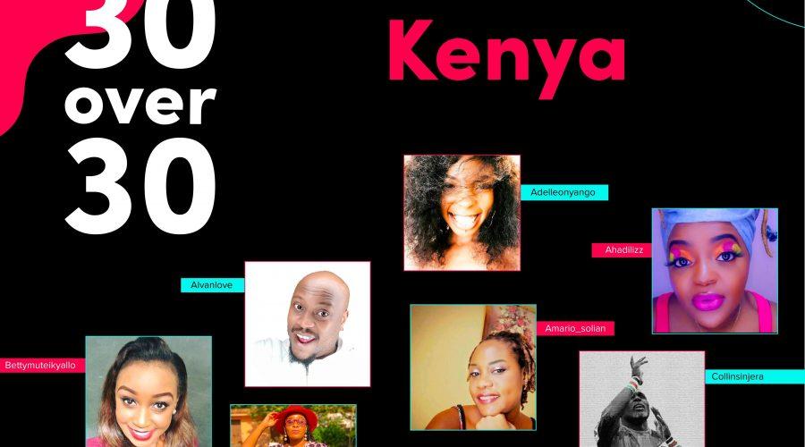 Meet 30 creators and celebs over 30 rocking it on TikTok in Kenya